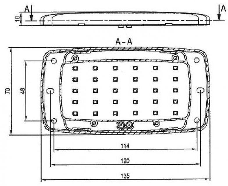 plafonnier extra plat 34 leds 12v kent techniques avanc es. Black Bedroom Furniture Sets. Home Design Ideas