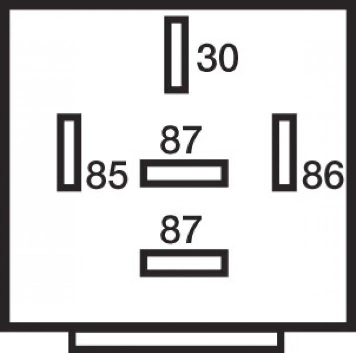 relais 5 bornes 12v 20  30a diode fixation
