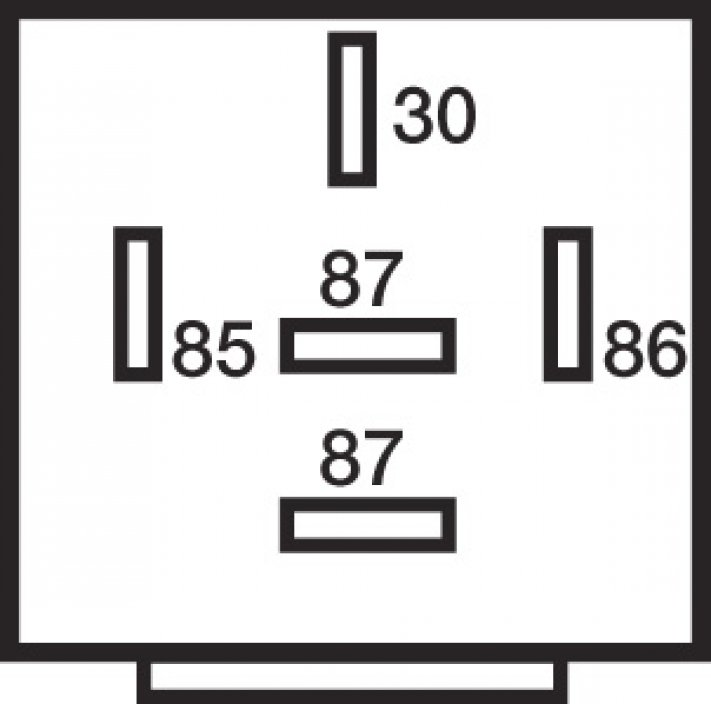 relais 5 bornes 24v 15  20a diode fixation