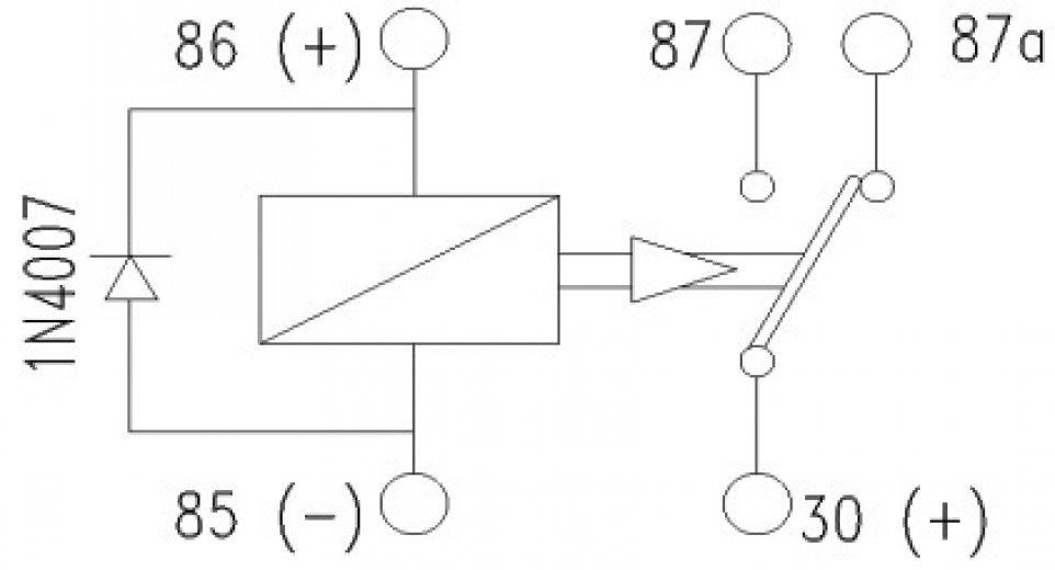 micro relais 12v 20a diode kent techniques avanc es. Black Bedroom Furniture Sets. Home Design Ideas