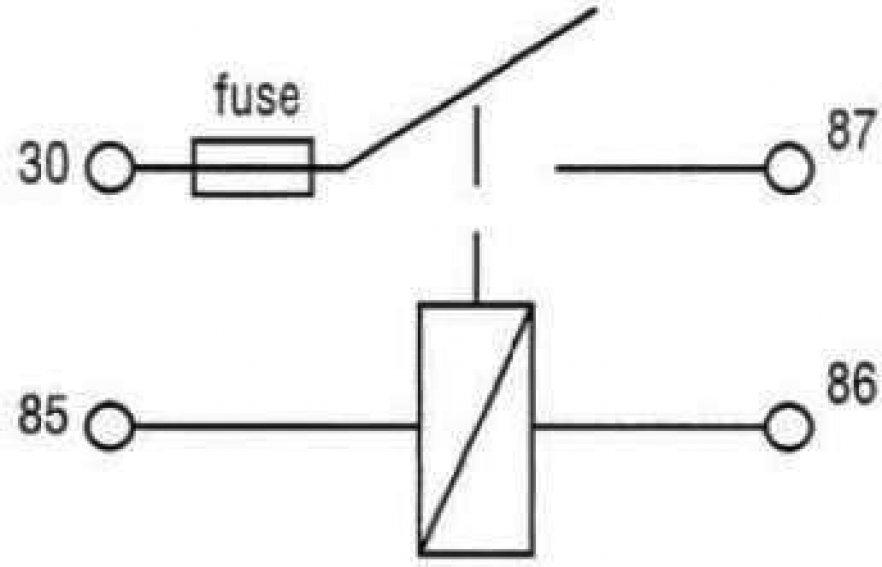 relais contacteur avec fusible 4 bornes 12v  30a fixation